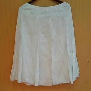 Old Navy Skirts - White  Cotton Skirt with Stiches Decoration Sz 10